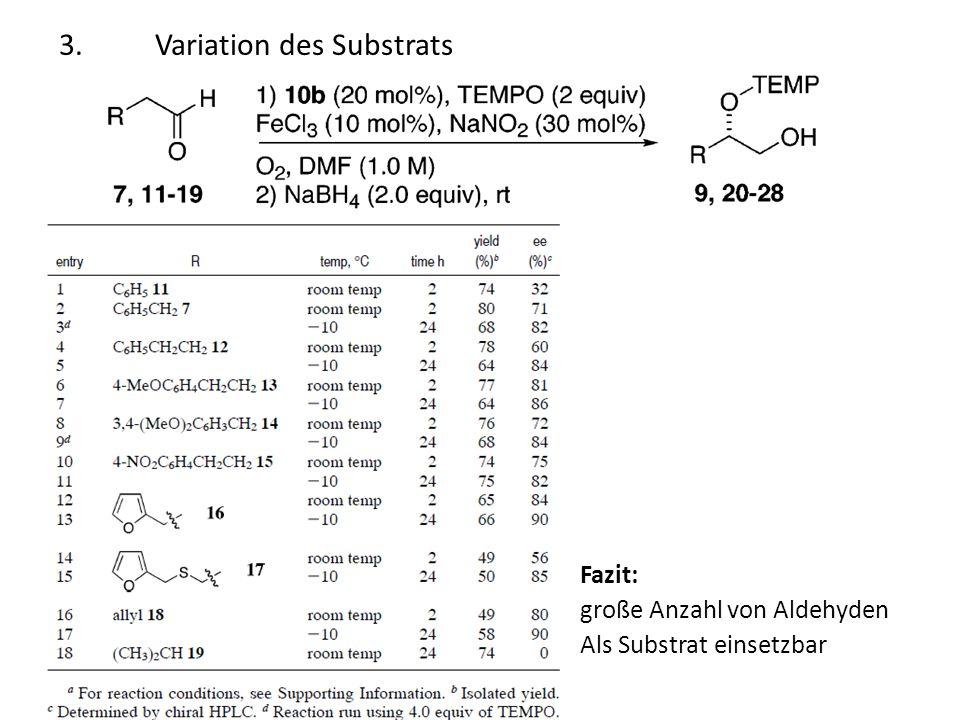 3. Variation des Substrats
