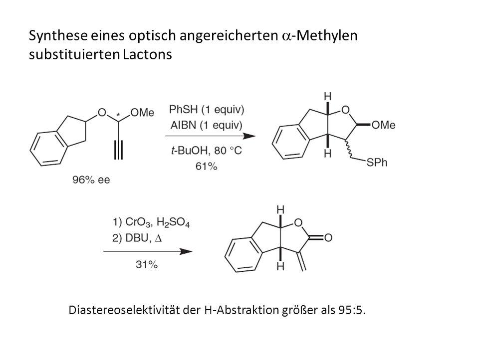 Synthese eines optisch angereicherten a-Methylen substituierten Lactons
