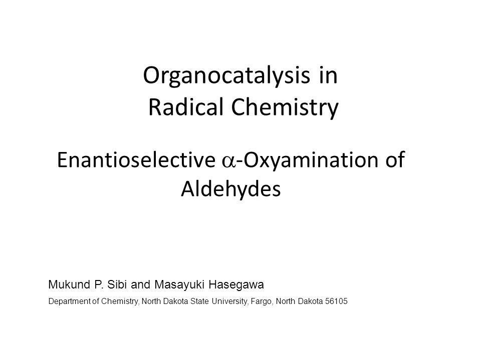 Organocatalysis in Radical Chemistry