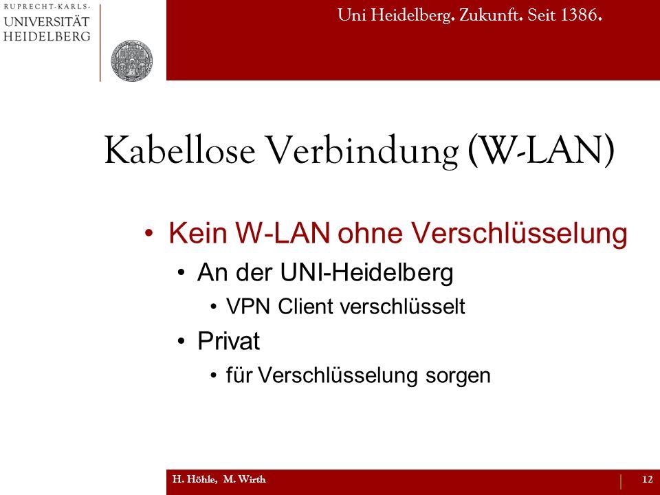 Kabellose Verbindung (W-LAN)