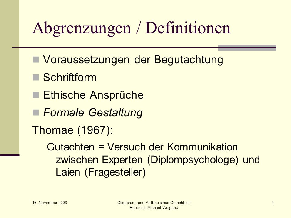 Abgrenzungen / Definitionen