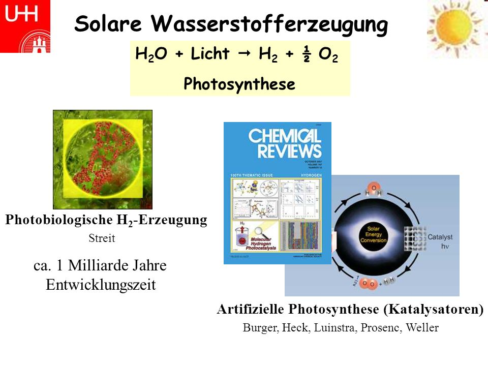 Solare Wasserstofferzeugung