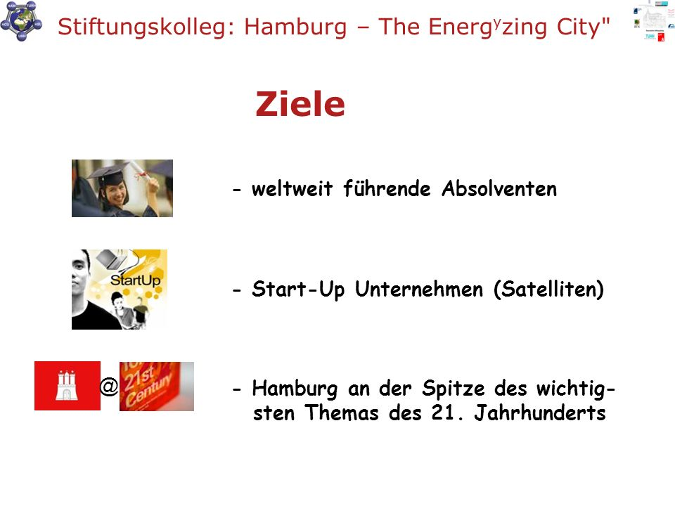 Ziele Stiftungskolleg: Hamburg – The Energyzing City