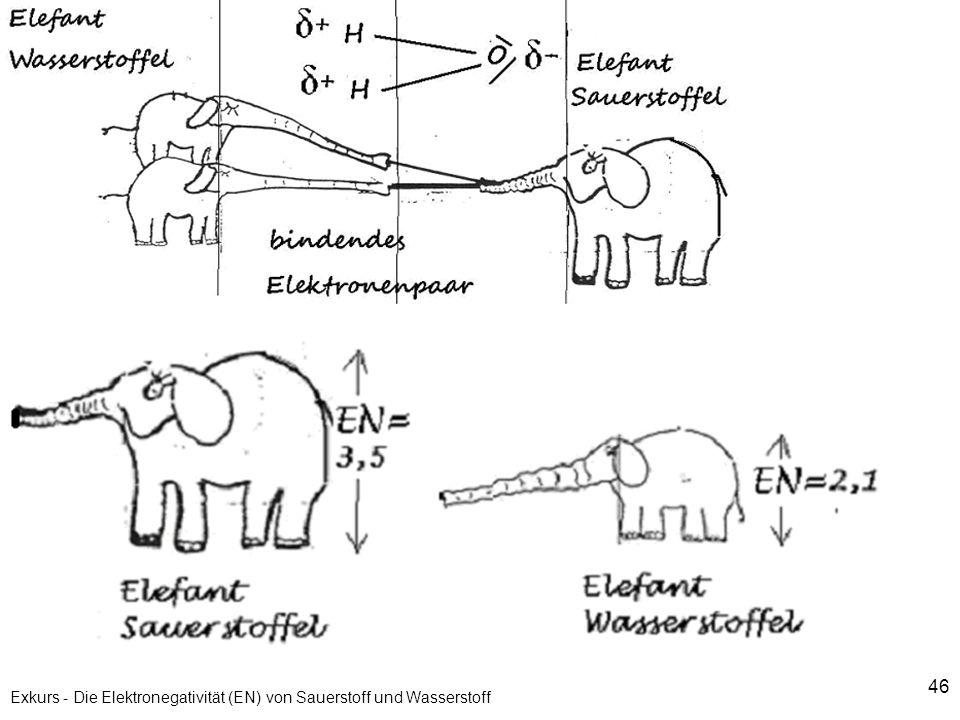 Exkurs - Die Elektronegativität (EN) von Sauerstoff und Wasserstoff
