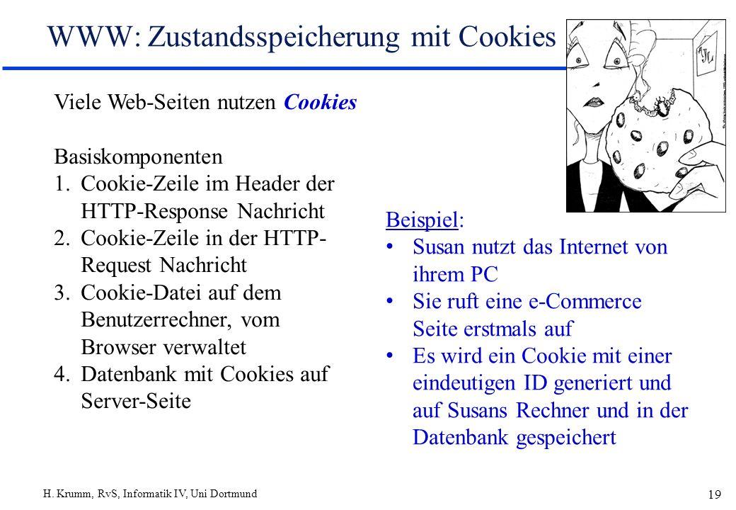 WWW: Zustandsspeicherung mit Cookies