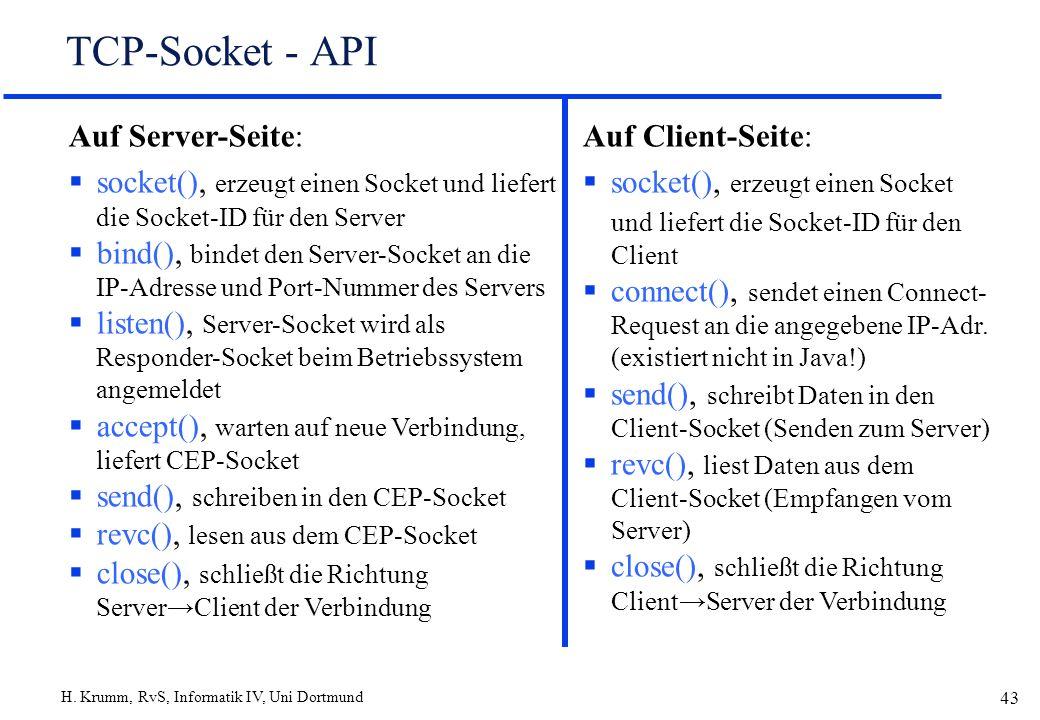 TCP-Socket - API Auf Server-Seite: