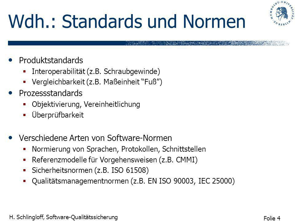 Wdh.: Standards und Normen