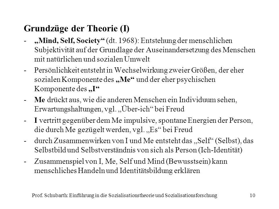 Grundzüge der Theorie (I)