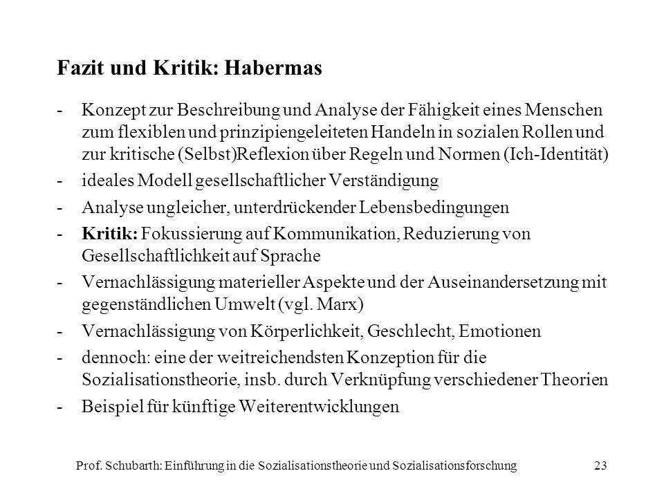 Fazit und Kritik: Habermas