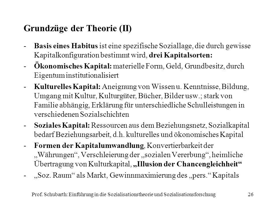 Grundzüge der Theorie (II)