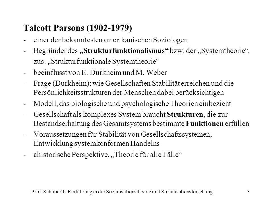 """Talcott Parsons (1902-1979)einer der bekanntesten amerikanischen Soziologen. Begründer des """"Strukturfunktionalismus bzw. der """"Systemtheorie ,"""