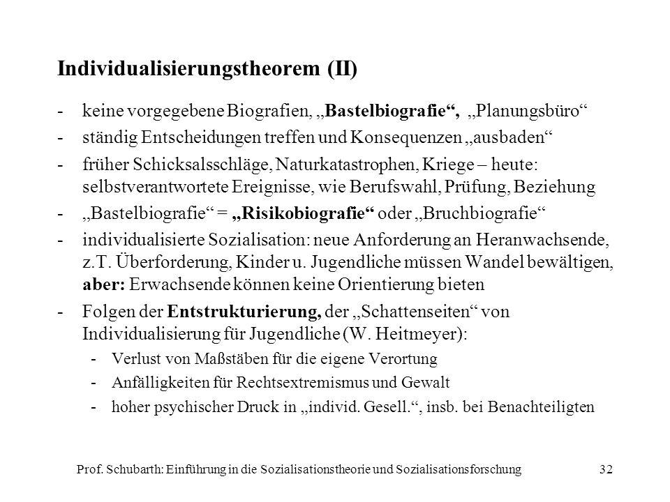 Individualisierungstheorem (II)