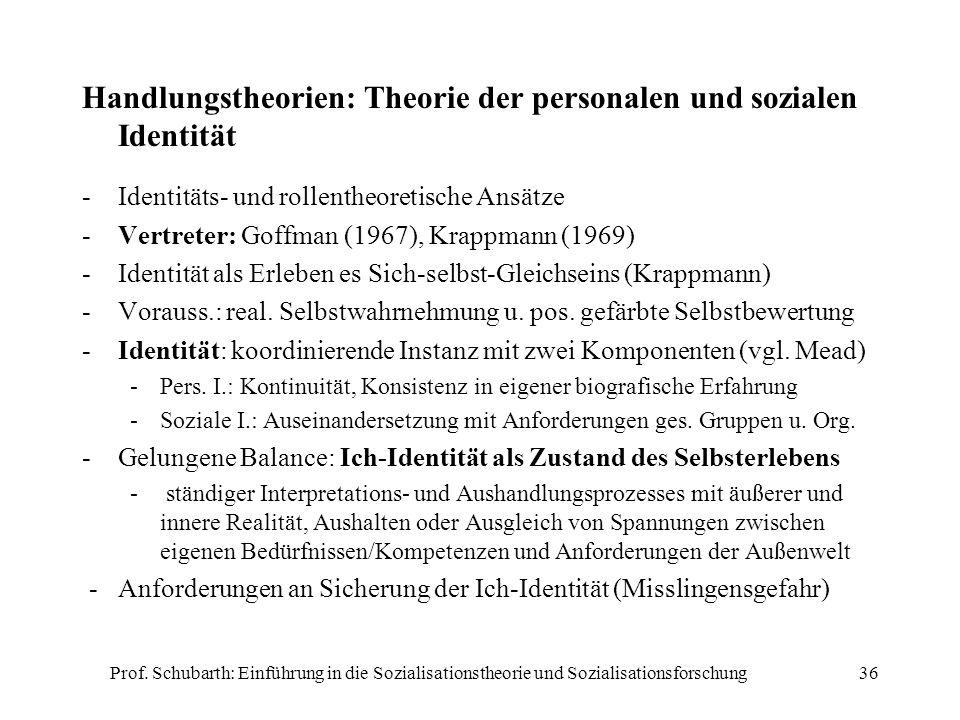 Handlungstheorien: Theorie der personalen und sozialen Identität