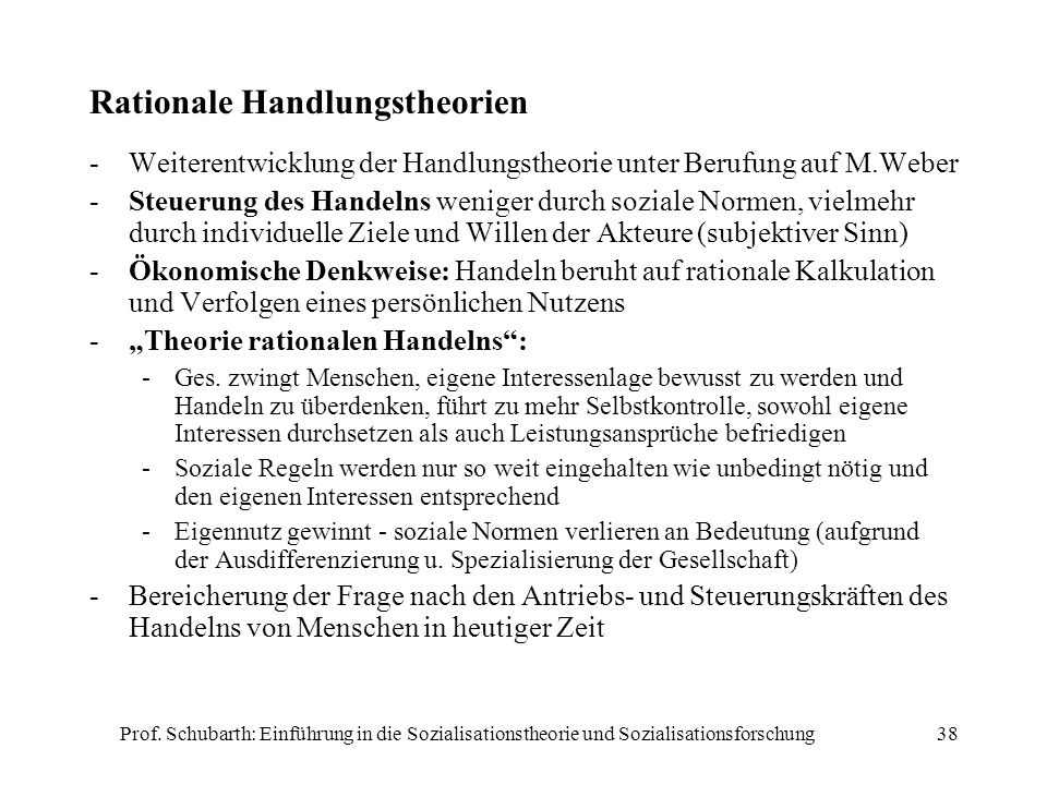 Rationale Handlungstheorien