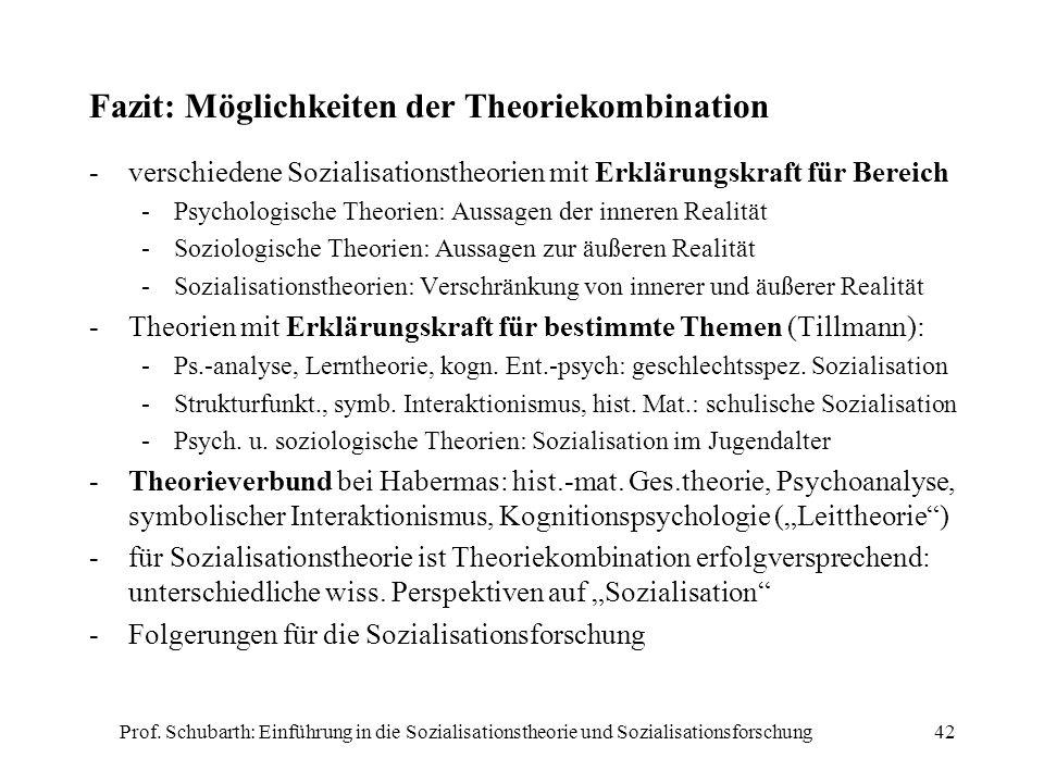 Fazit: Möglichkeiten der Theoriekombination