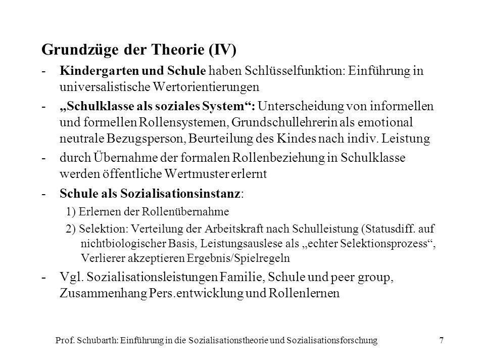 Grundzüge der Theorie (IV)