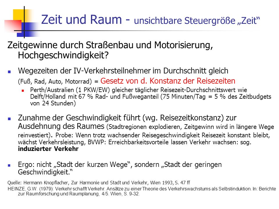 """Zeit und Raum - unsichtbare Steuergröße """"Zeit"""