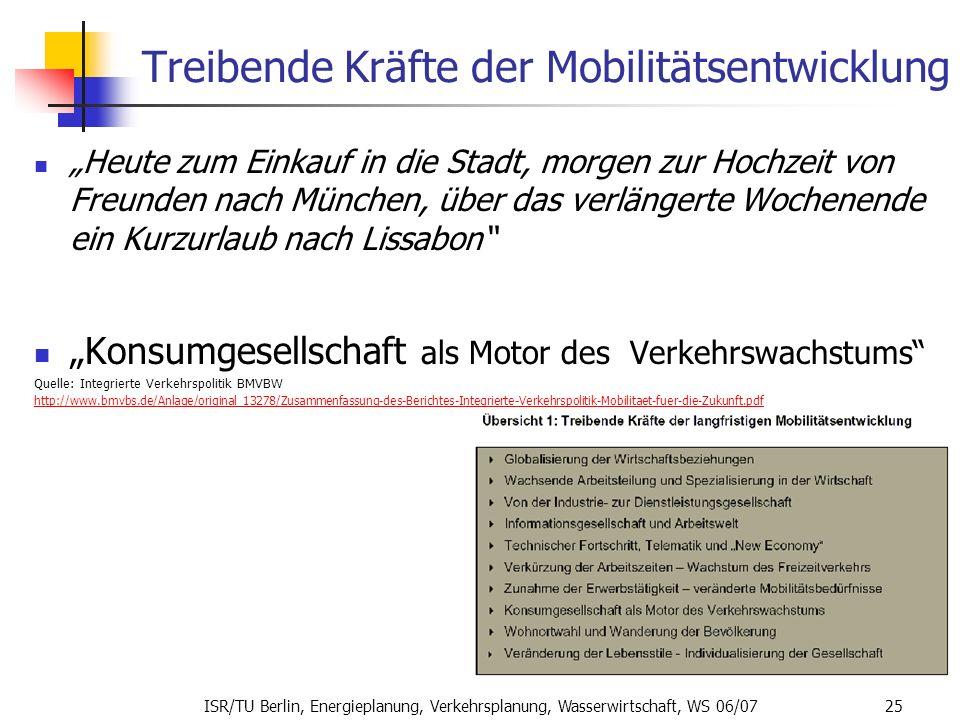 Treibende Kräfte der Mobilitätsentwicklung