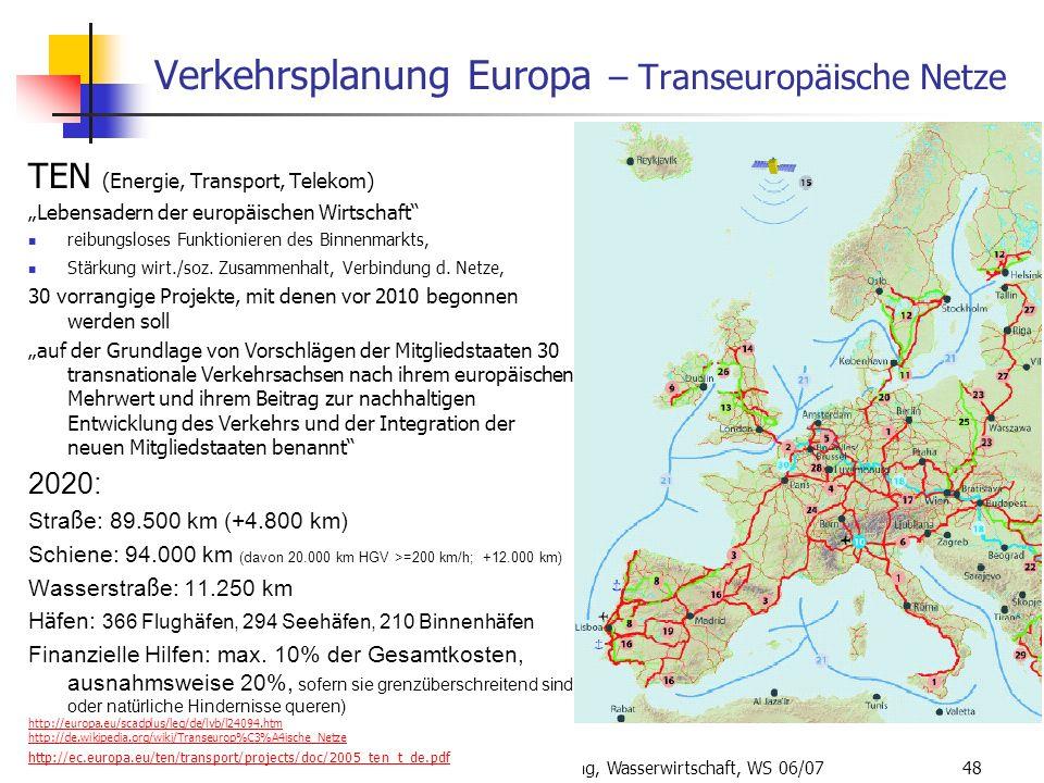 Verkehrsplanung Europa – Transeuropäische Netze