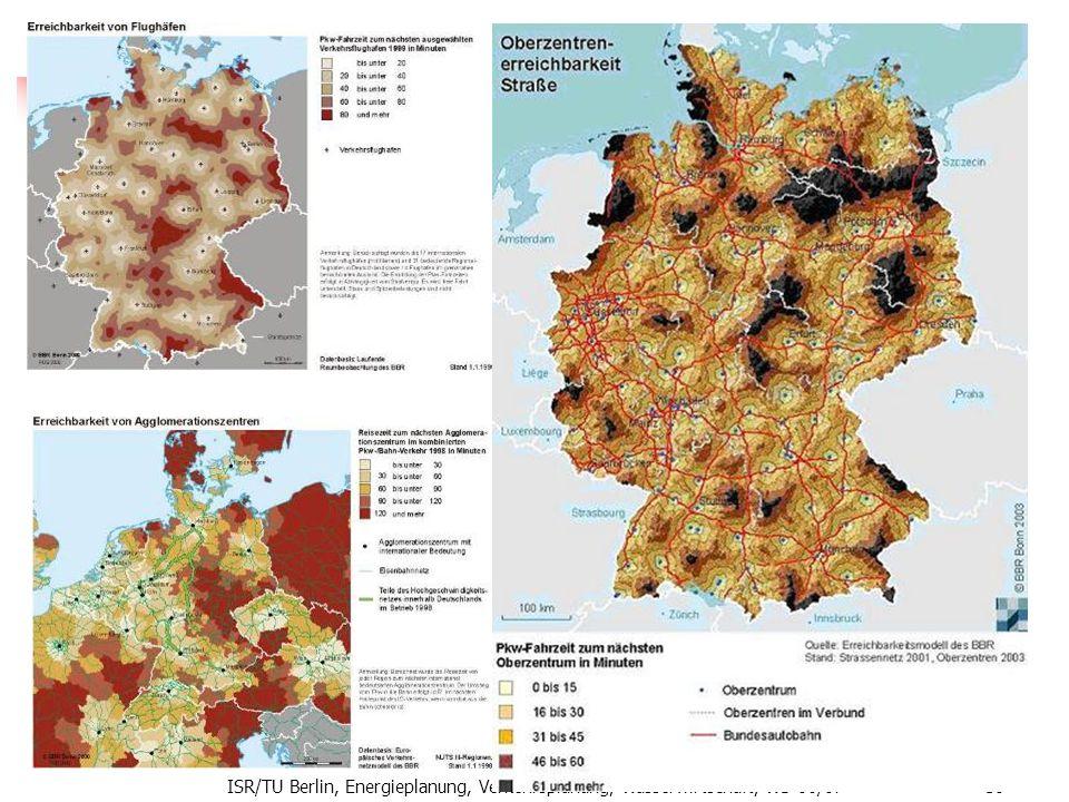 Erreichbarkeit ISR/TU Berlin, Energieplanung, Verkehrsplanung, Wasserwirtschaft, WS 06/07