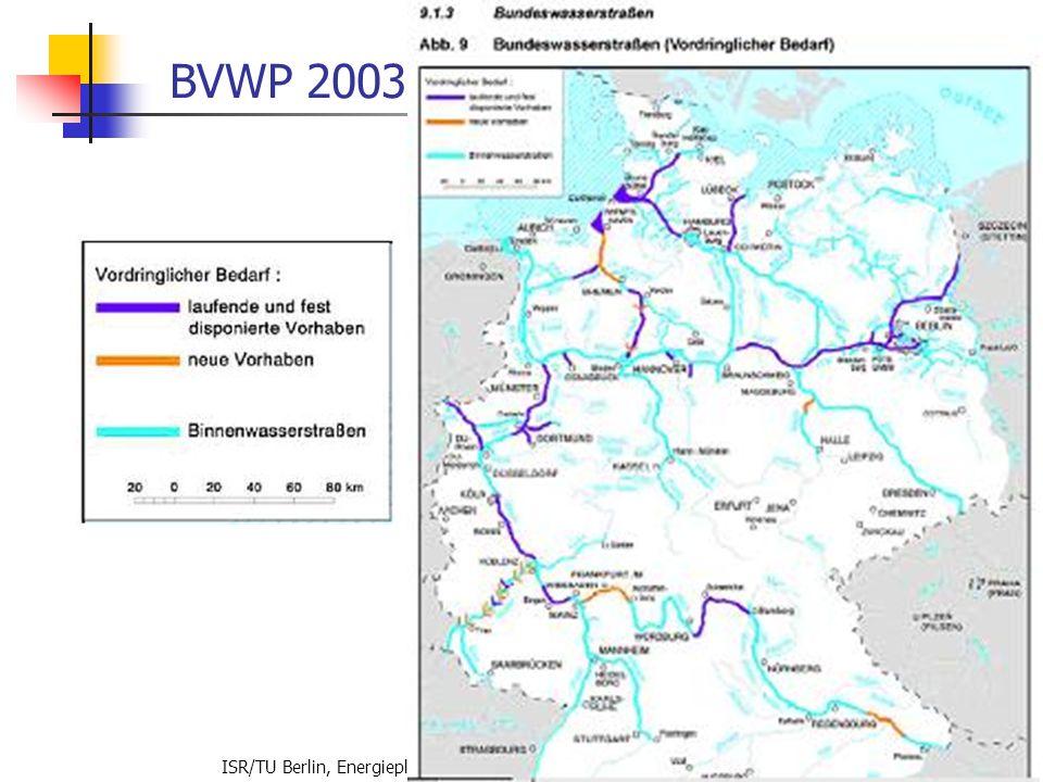 BVWP 2003 ISR/TU Berlin, Energieplanung, Verkehrsplanung, Wasserwirtschaft, WS 06/07