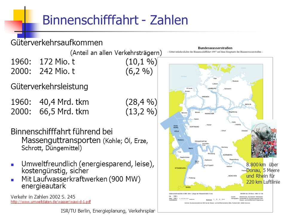 Binnenschifffahrt - Zahlen