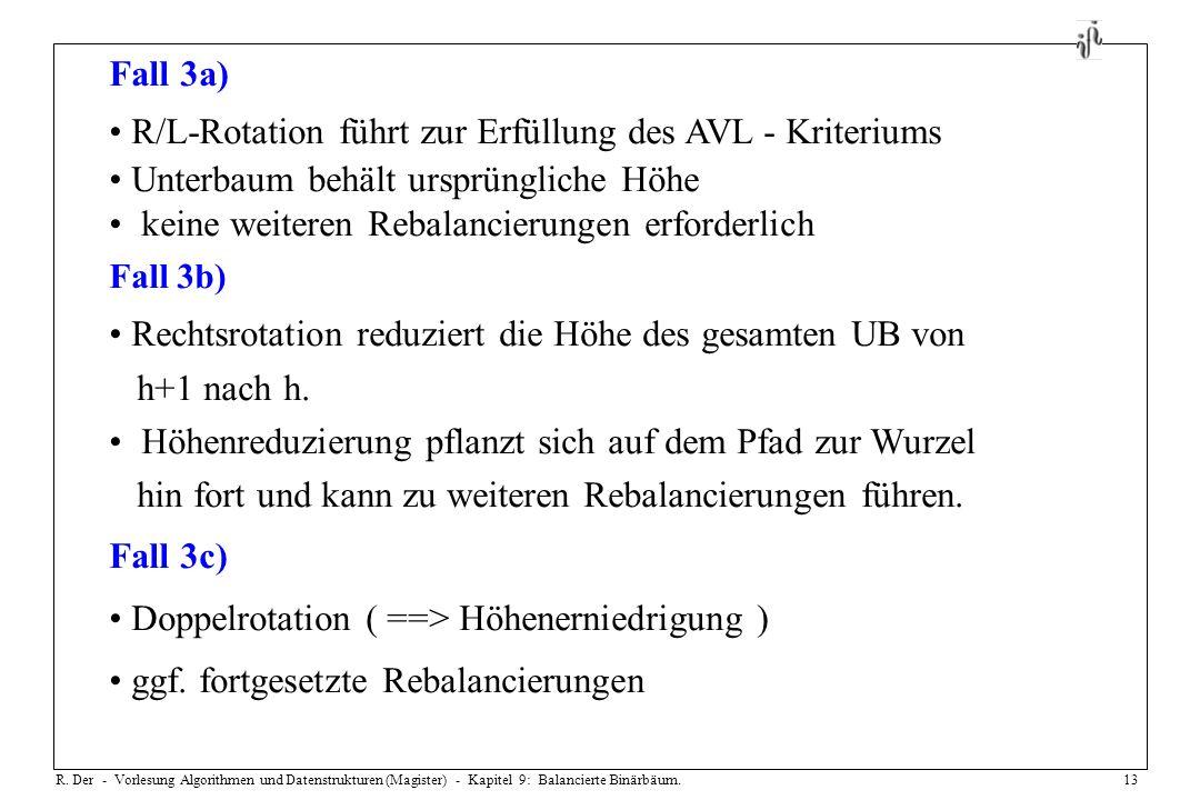 R/L-Rotation führt zur Erfüllung des AVL - Kriteriums