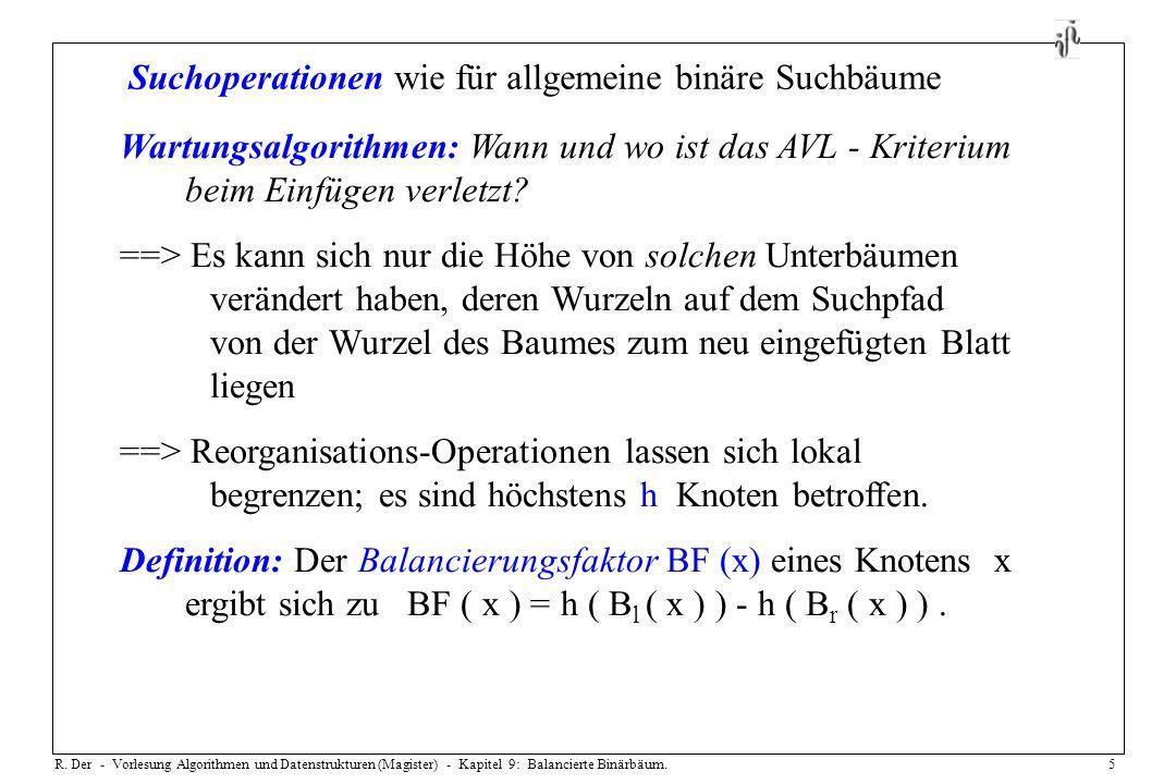Suchoperationen wie für allgemeine binäre Suchbäume