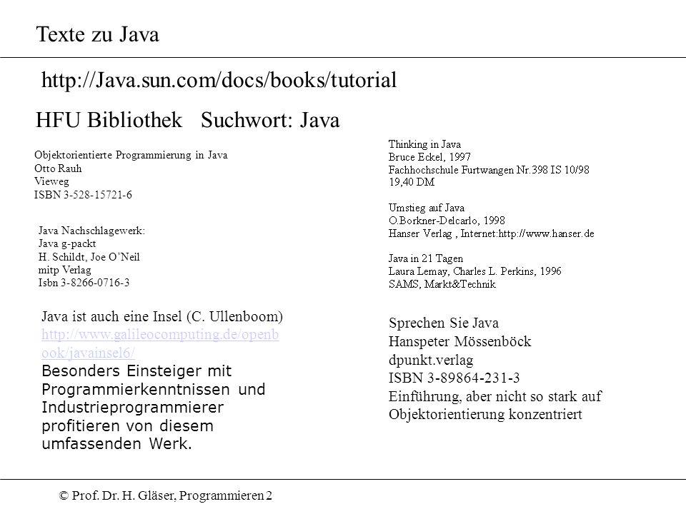HFU Bibliothek Suchwort: Java