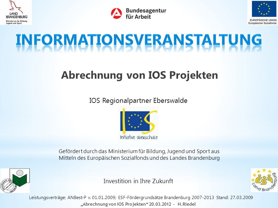 Abrechnung von IOS Projekten