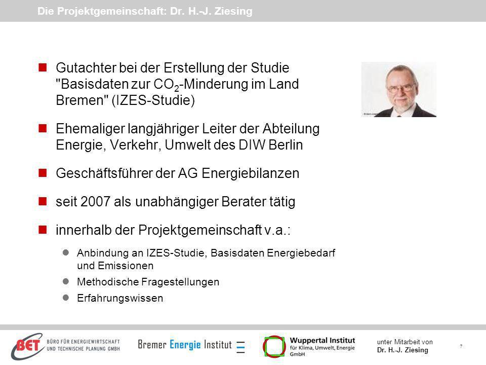 Die Projektgemeinschaft: Dr. H.-J. Ziesing