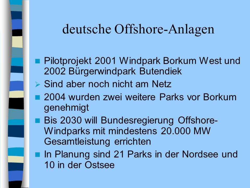 deutsche Offshore-Anlagen