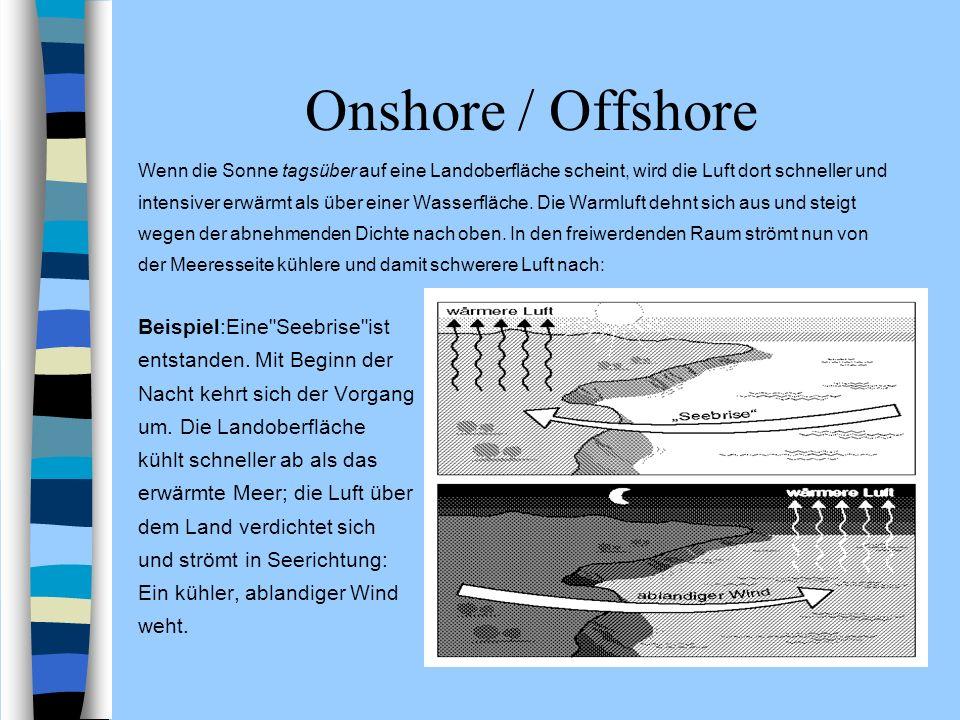 Onshore / Offshore Beispiel:Eine Seebrise ist