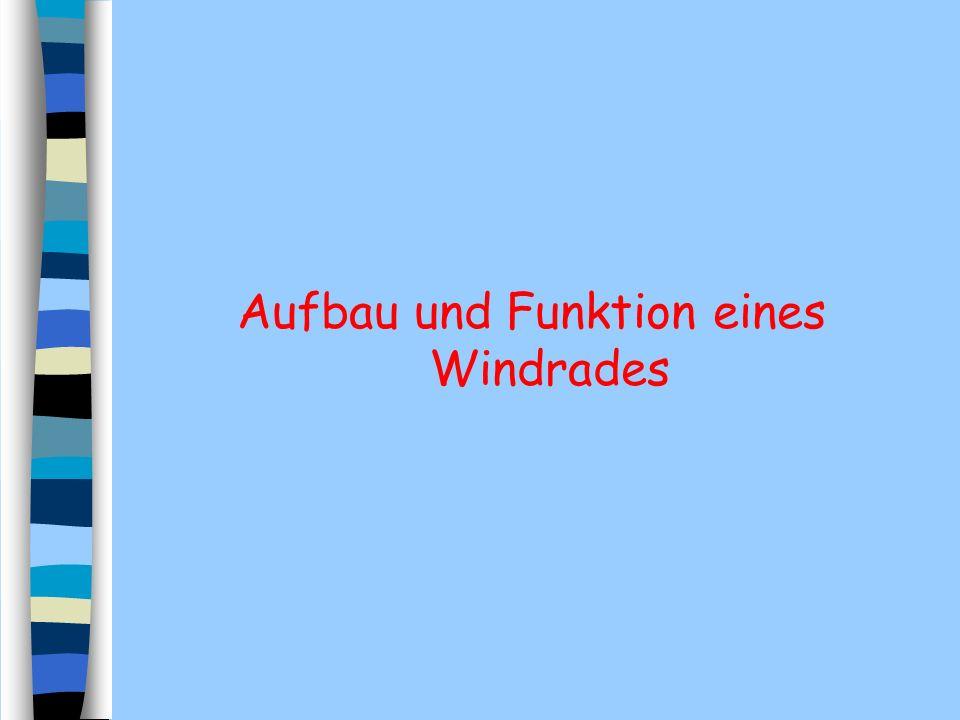 Aufbau und Funktion eines Windrades