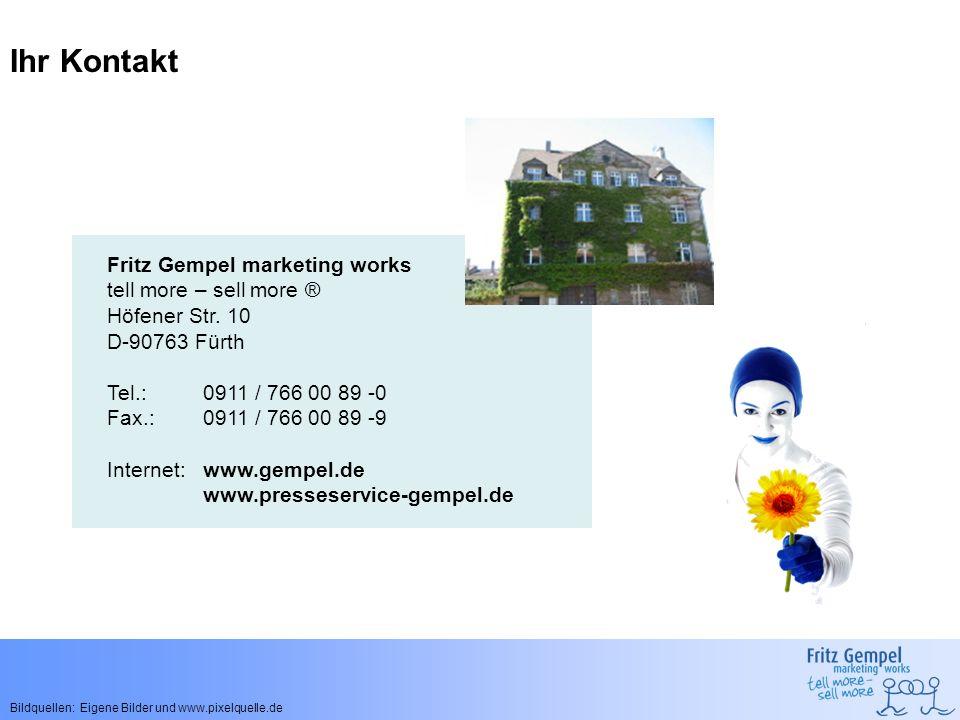 Ihr Kontakt Fritz Gempel marketing works tell more – sell more ®