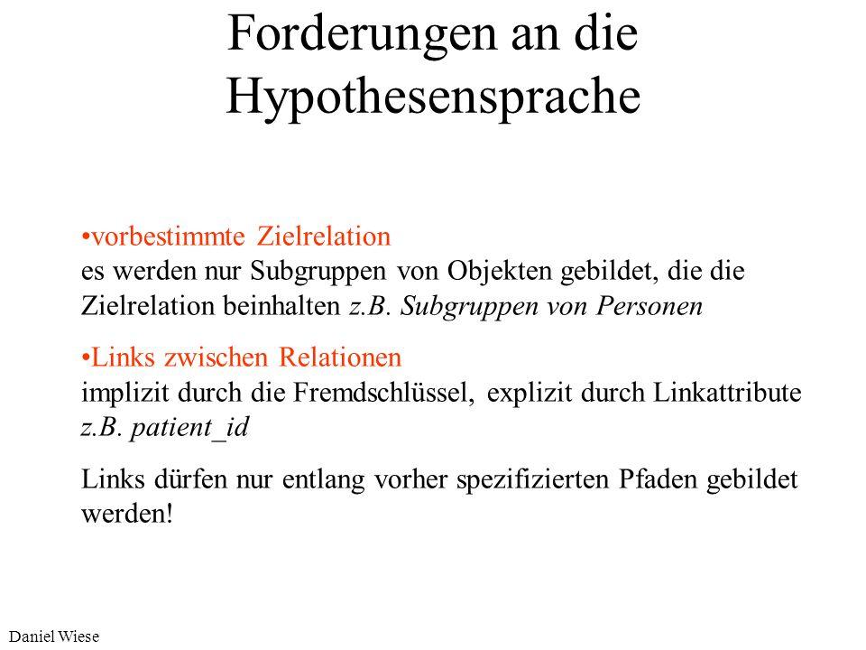 Forderungen an die Hypothesensprache