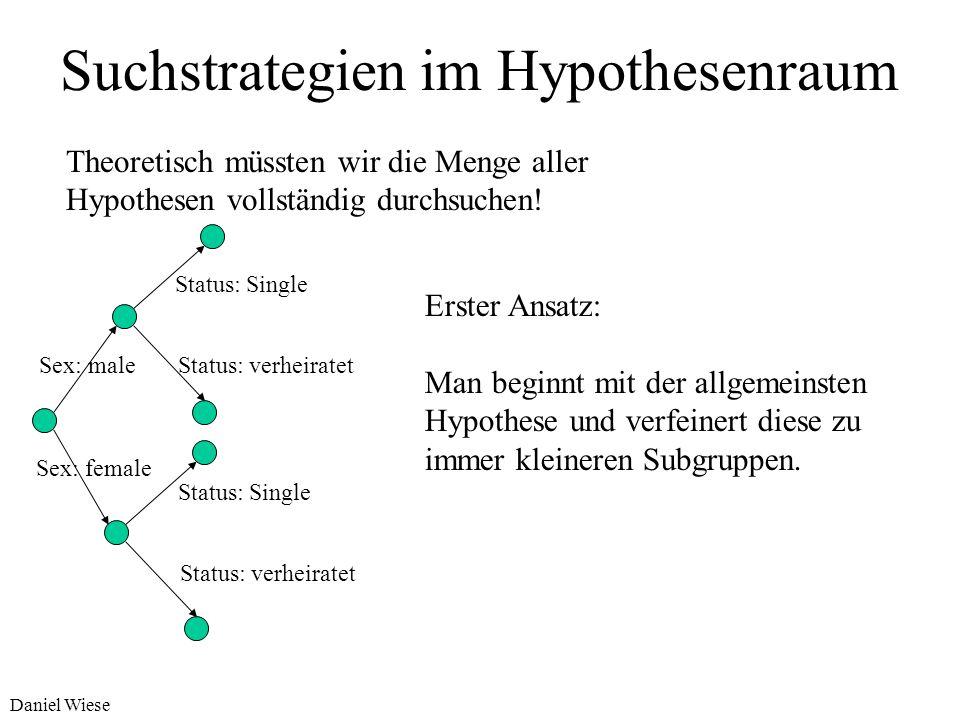 Suchstrategien im Hypothesenraum