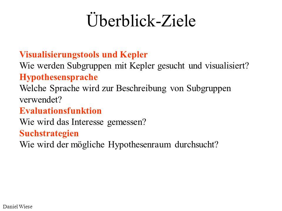 Überblick-Ziele Visualisierungstools und Kepler