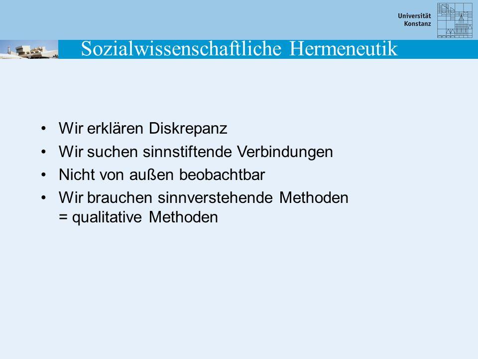 Sozialwissenschaftliche Hermeneutik