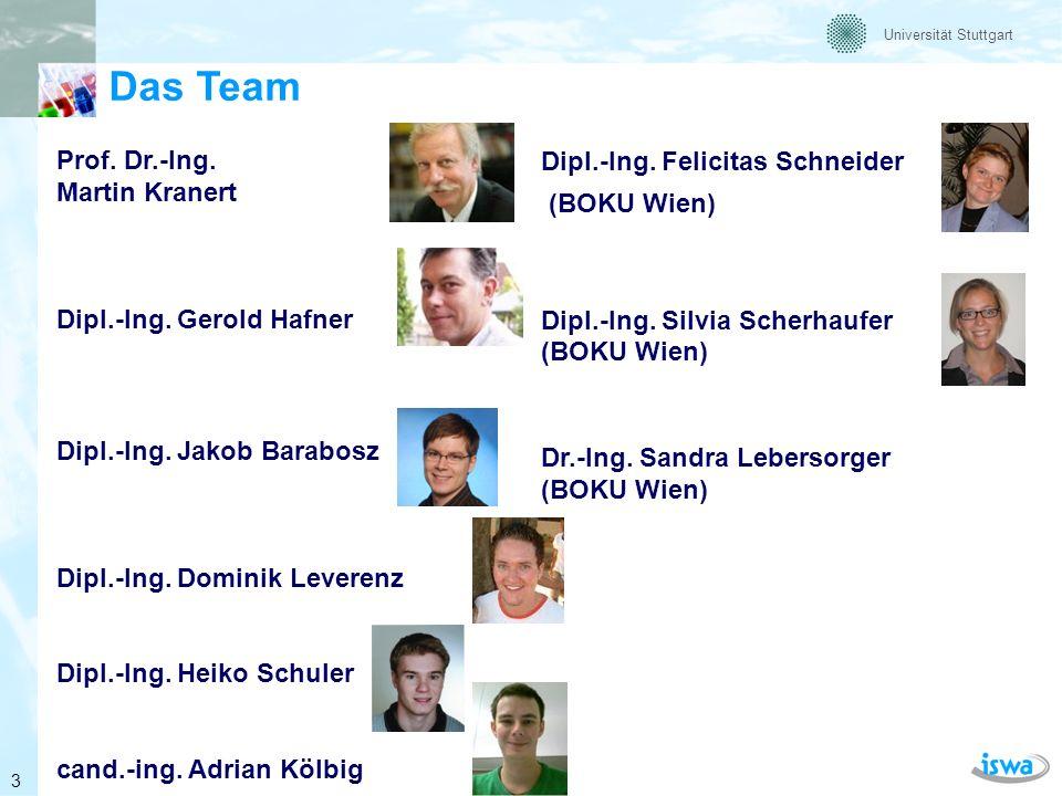 Das Team Prof. Dr.-Ing. Martin Kranert Dipl.-Ing. Gerold Hafner