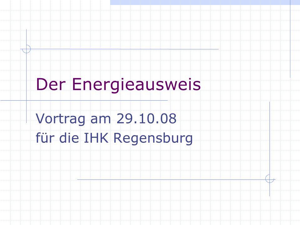 Vortrag am 29.10.08 für die IHK Regensburg