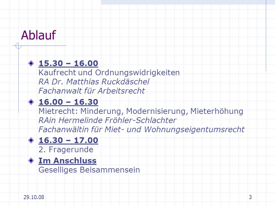 Ablauf 15.30 – 16.00 Kaufrecht und Ordnungswidrigkeiten RA Dr. Matthias Ruckdäschel Fachanwalt für Arbeitsrecht.