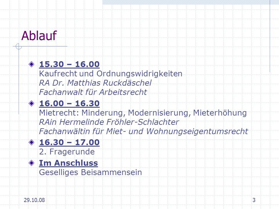 Ablauf15.30 – 16.00 Kaufrecht und Ordnungswidrigkeiten RA Dr. Matthias Ruckdäschel Fachanwalt für Arbeitsrecht.