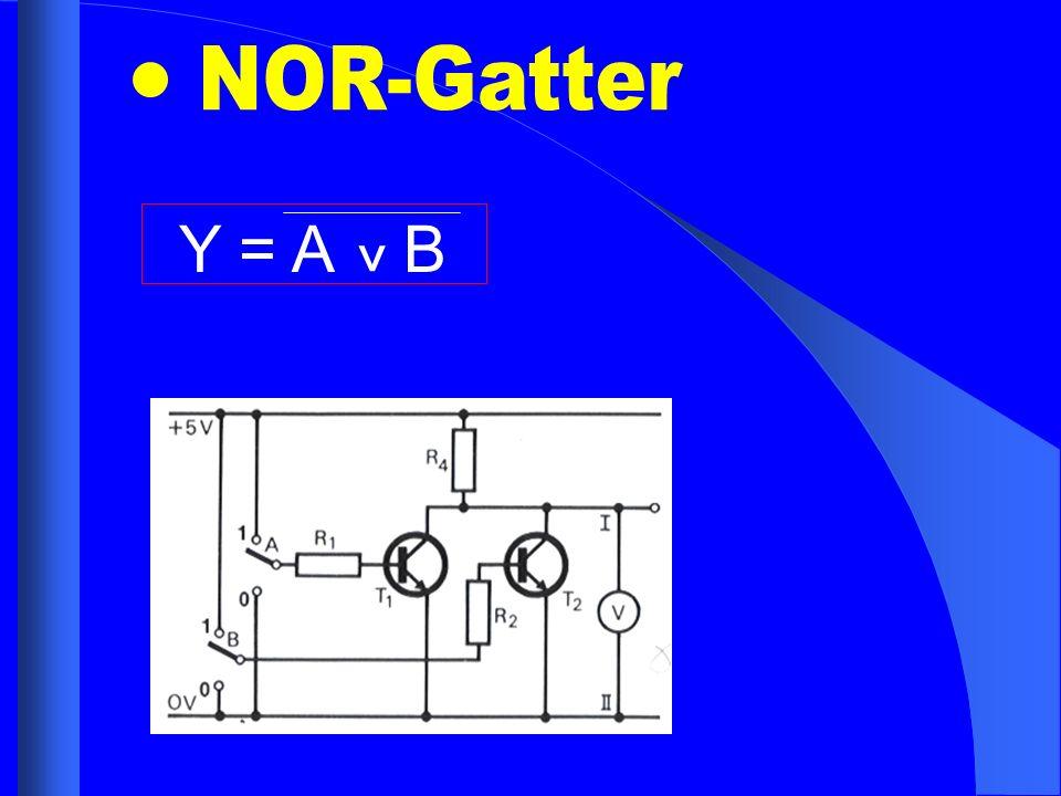 NOR-Gatter Y = A B ^