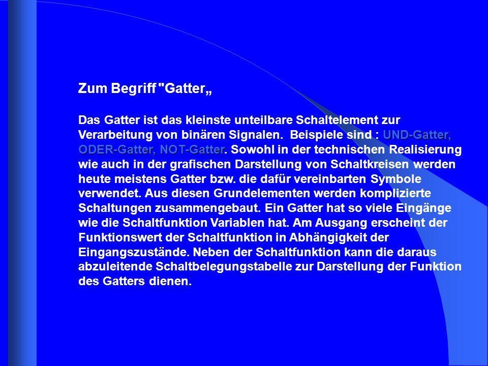 """Zum Begriff Gatter"""""""