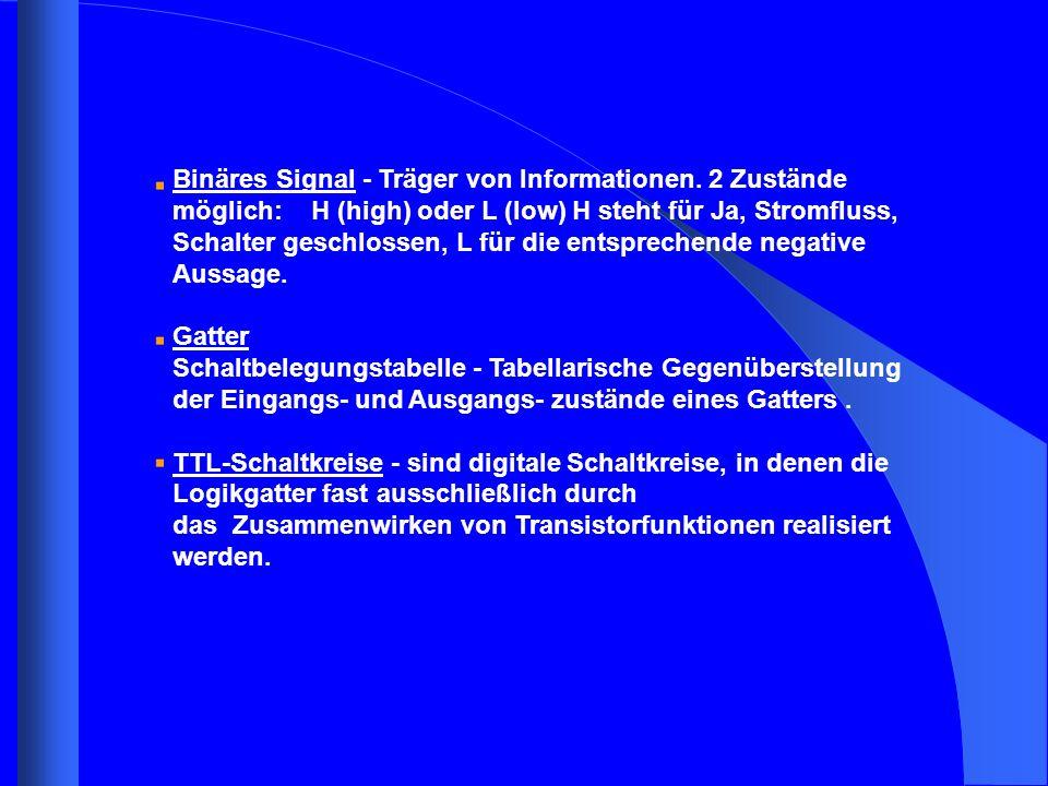 Binäres Signal - Träger von Informationen