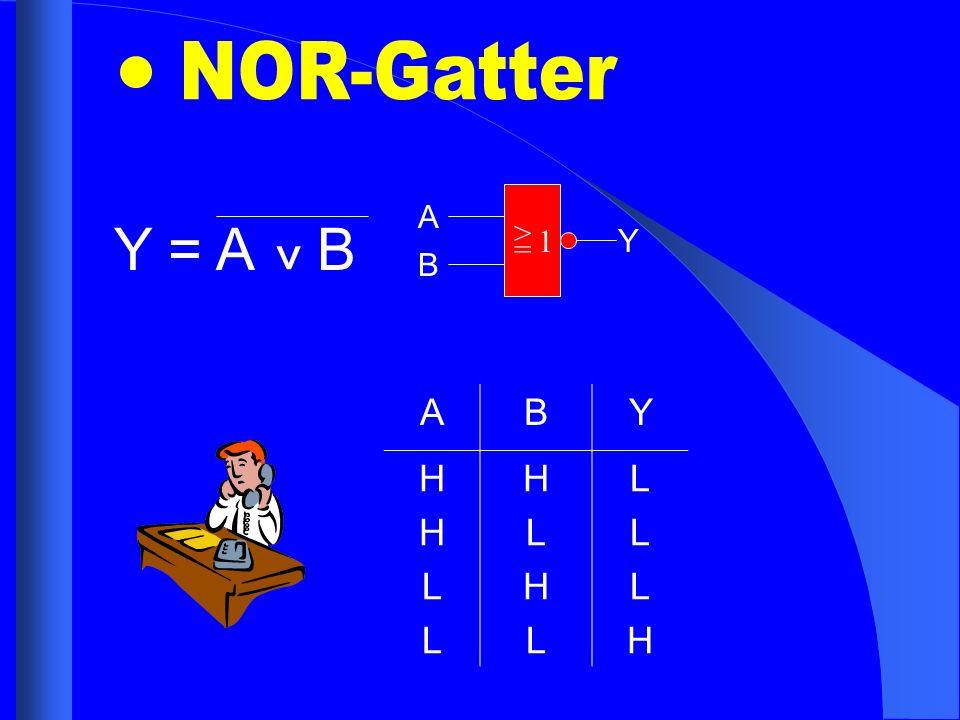 NOR-Gatter A Y = A B ^ > = 1 Y B A B Y H L