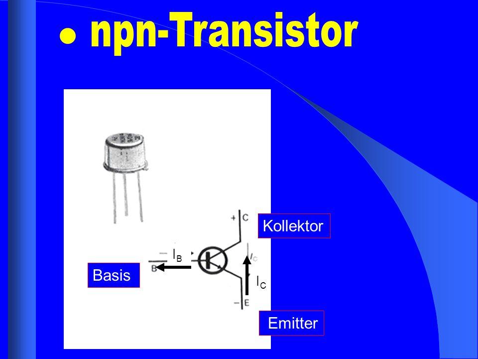npn-Transistor Kollektor IB Basis IC Emitter