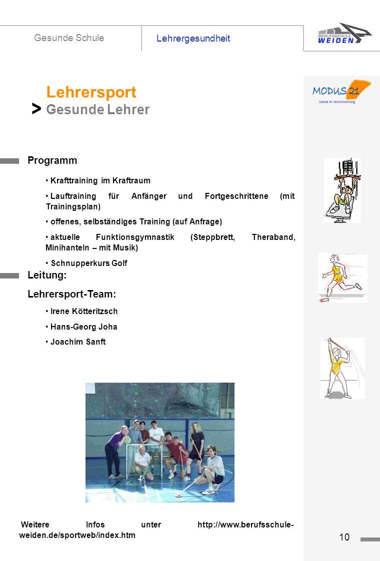 > Lehrersport Gesunde Lehrer Lehrergesundheit Gesunde Schule