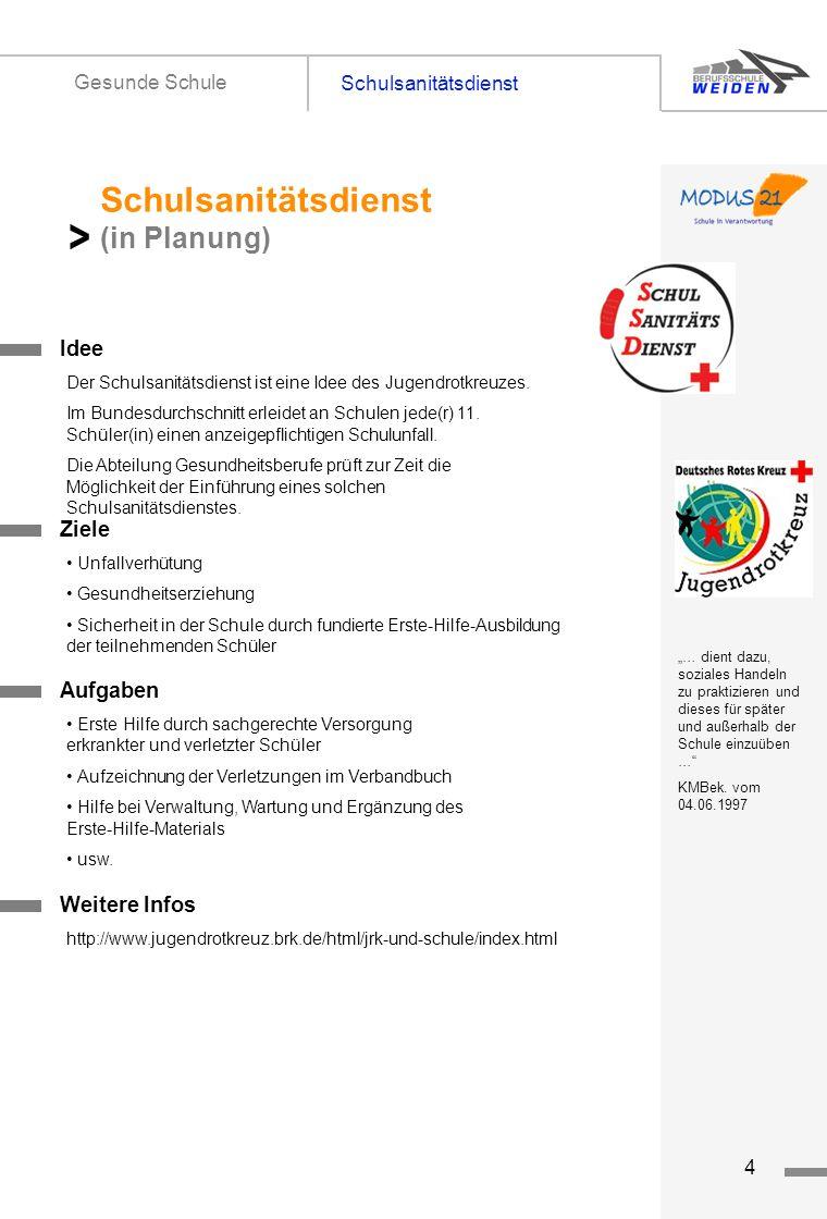 > Schulsanitätsdienst (in Planung) Schulsanitätsdienst